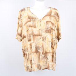 Dámská halenka Baty fashion hnědo žlutá