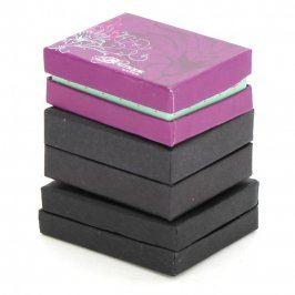 Dárkové krabičky papírové černé a růžová