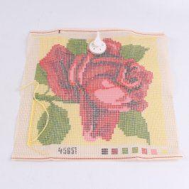 Vyšívací šablona s motivem růže