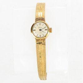 Dámské hodinky elegantní zlaté