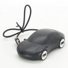USB HUB Oriflame 4x USB černé auto