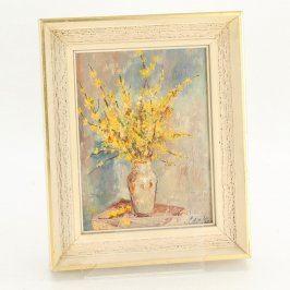 Obrázek vázy se zlatým deštěm