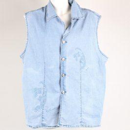 Dámská džínová vesta Jirgao modrá