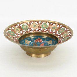 Zdobená dekorativní mísa z Indie