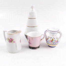 Dekorace z porcelánu 4 ks