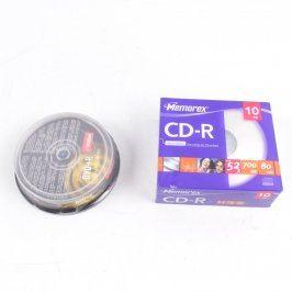 Balení CD-R Memorex a balení DVD+R Imation