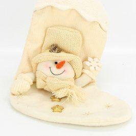Vánoční ponožka se sněhulákem