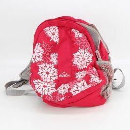 Dětský batoh McKinley červený s květinami