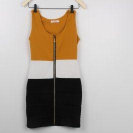 Dámské šaty SHK mode trojbarevné