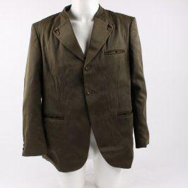 Pánské sako na knoflíky khaki