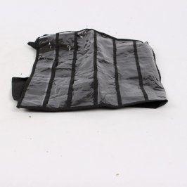 Závěsný organizér na šperky černý 66x35 cm