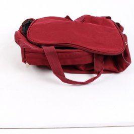 Cestovní taška bordová 40x24x25 cm