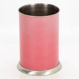 Plechová dóza růžové barvy