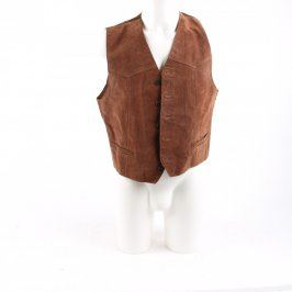 Pánská vesta hnědá na knoflíky