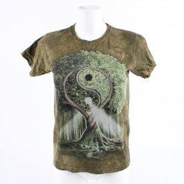 Dámské tričko The Mountain zelené s obrázkem