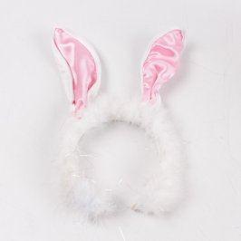 Čelenka ke kostýmu zajíčka bílá