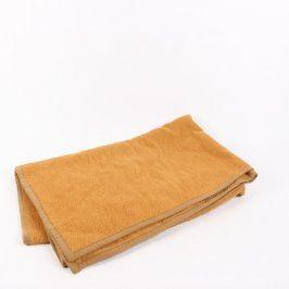 Zateplená deka hnědá 146 x 192 cm
