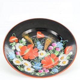 Dekorativní talíř malovaný k pověšení