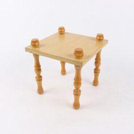 Dřevěný stolek odkládací světle hnědý