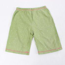 Dětské kalhoty Lupilu zelené s puntíky
