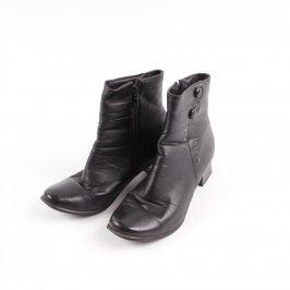 Dámské kotníčkové boty černé