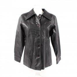 Dámská bunda koženková černá