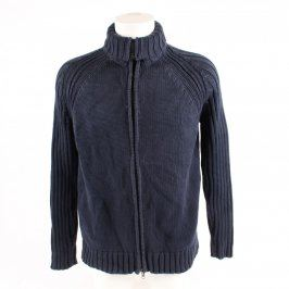 Pánský svetr s límečkem ZARA Man modrý