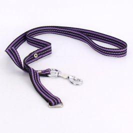 Vodítko černo fialové 130 cm