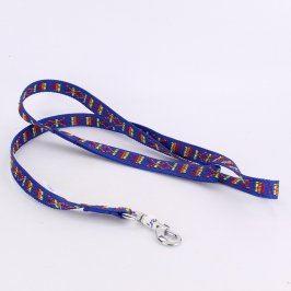 Vodítko Juko modré s barevnými ornamenty