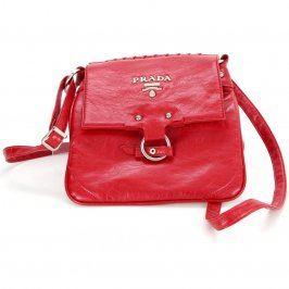 Dámská kožená kabelka Prada červená