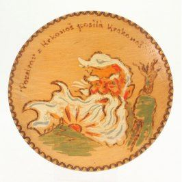 Dekorativní talíř s obrázkem Krakonoše