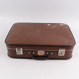 Cestovní kufr hnědý 55x41x15 cm