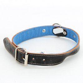 Obojek koženkový černo modrý