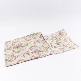 Povlaky na polštáře 2 ks s květinami
