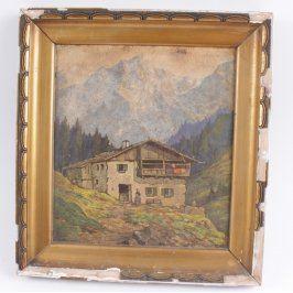 Obraz v rámu Domek v horách