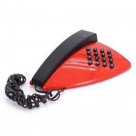Pevný telefon Iskra Comet červenočerný