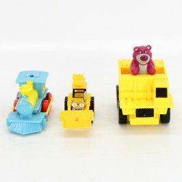Dopravní prostředky plastové 3 ks