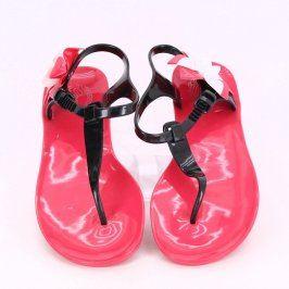 Gumové sandále do vody s květinou