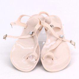 Gumové sandále do vody béžové