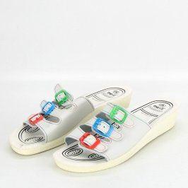 Dámské pantofle Muya bílé