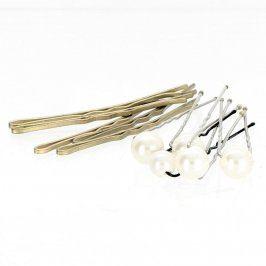 Pinetky do vlasů kovové i s perličkami