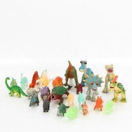 Sbírka figurek různobarevných dinosaurů