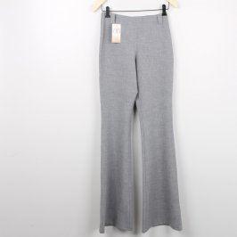 Dámské kalhoty BB odstín šedé s bočním zipem