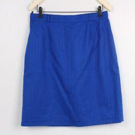 Dámská sukně modrá s jemnými proužky