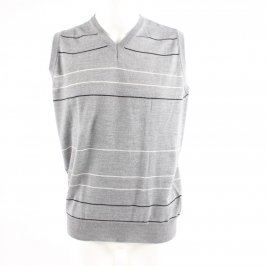 Pánská vesta Colerige šedá s proužky