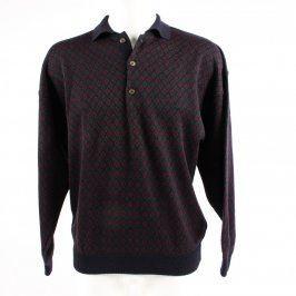 Pánský svetr Elle et Lui fialový se vzory