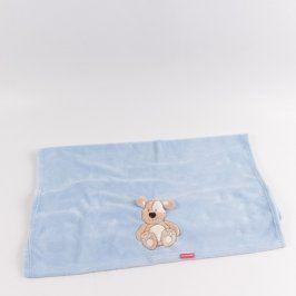 Dětská deka Bobobaby modrá s obrázkem