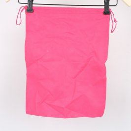 Sáček na přezůvky růžové barvy