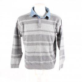 Pánský svetr Marks & Spencer šedý s pruhy