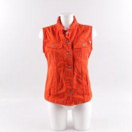 Dámská vesta Esprit Jeans odstín oranžové
